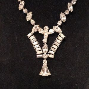 "Vintage Rhinestone 15.5"" necklace"